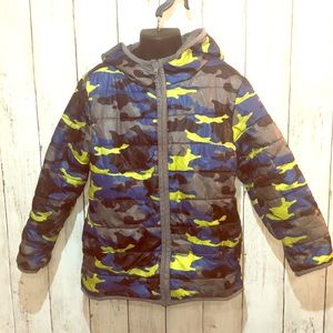 3/$25 Gymboree Camo Puffer Jacket S (5-6)